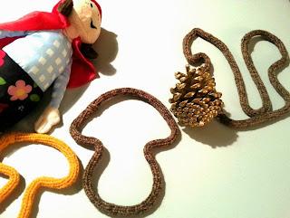 Champignon écureuil tricotin laine