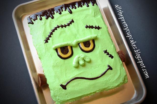 All The Pretty Cupcakes Frankenstein Cupcake Cake 1