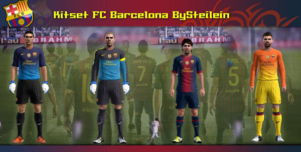 PES 2012 Barcelona FC 2012/13 Kits by Steilein