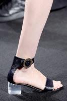 Ниски сандали с прозрачен ток на Michael Kors