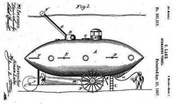 Konsep kapal selam William Bourne (1578). Prokimal Online Kotabumi Lampung Utara