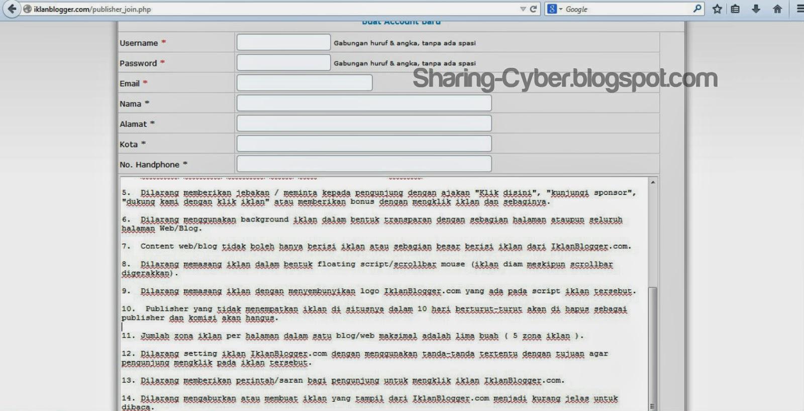 Cara Mendaftar PPC Lokal IklanBlogger.com