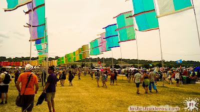 Glastonbury Festival. Avenida.