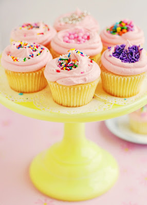 , you don't need a really fancy cupcake with a mountain of frosting ...