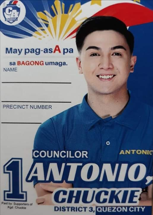 Chuckie Antonio - Quezon City - District 3
