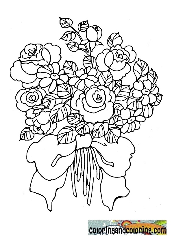 coloring pages flowers bouquet free coloring pages of bouquet flowers