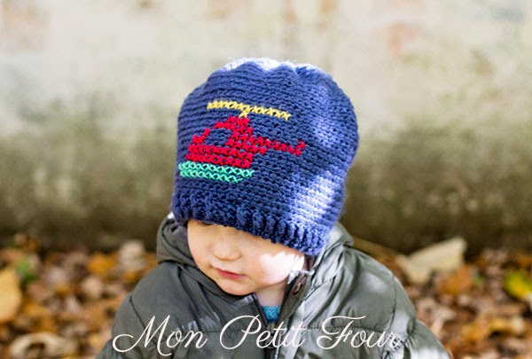 free crochet pattern boys helicopter beanie