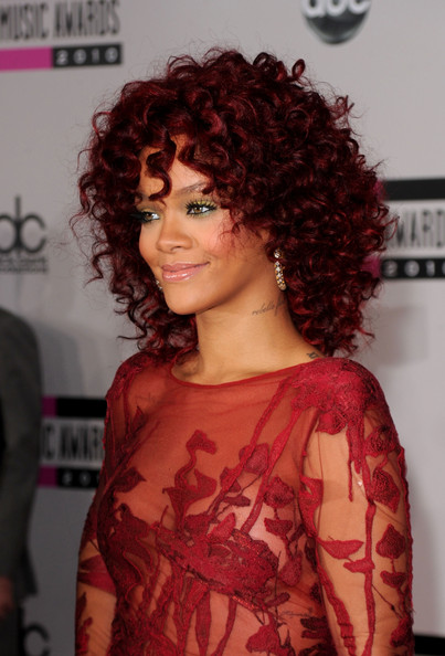 Rihanna Daring Red Hair
