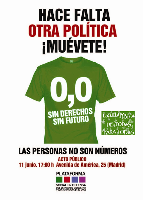 Acto pblico de la Plataforma Social. el dia 11 de junio