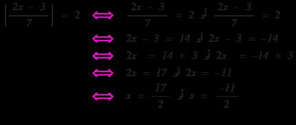 تطبيق على حل المعادلات التي تتضمن القيمة المطلقة