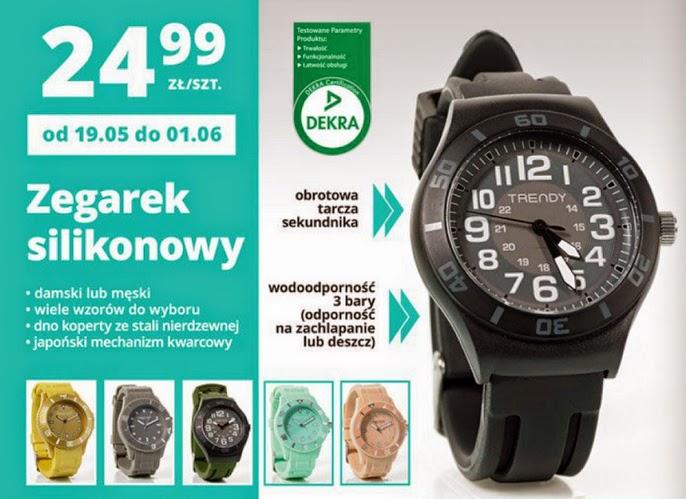 Zegarek silikonowy Trendy z Biedronki ulotka