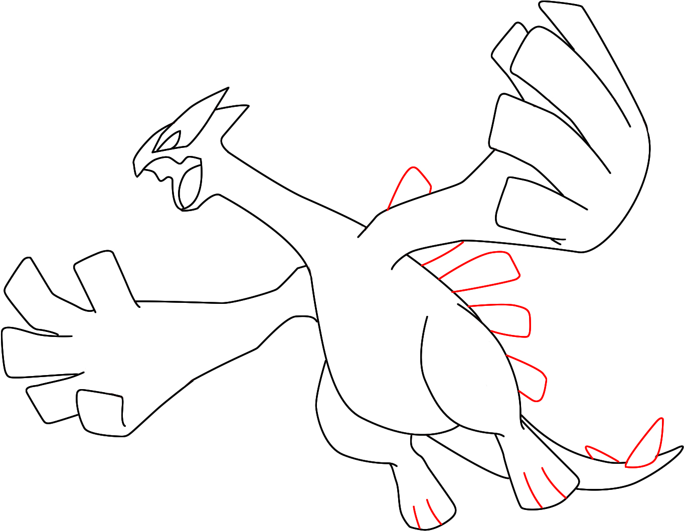 Learn How to Draw Lugia from Pokemon (Pokemon) Step by Step ...