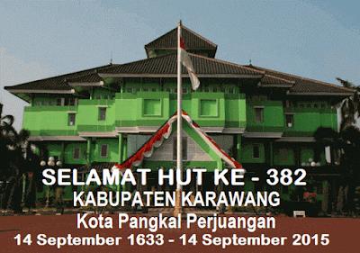 SELAMAT HUT KARAWANG KE - 382 TAHUN 2015