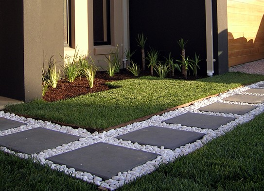 Serendipity suburbia garden inspiration for Large white landscaping rocks