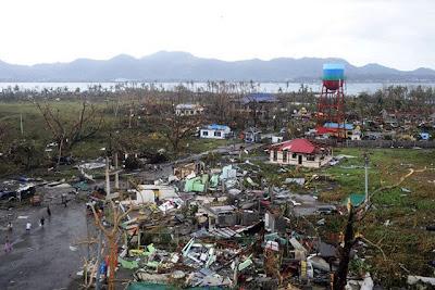 Devastated Tacloban City by typhoon Yolanda