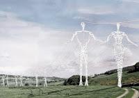 elektrik direği, insan şeklinde elektrik direği,
