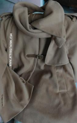 Seohyun wool brown cape worn in We got Married