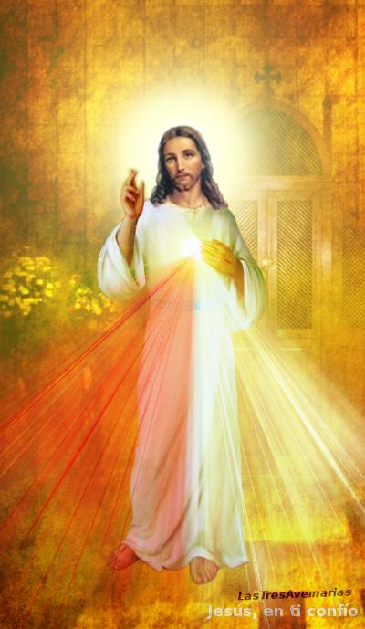 divina misericordia con el confesionario atras
