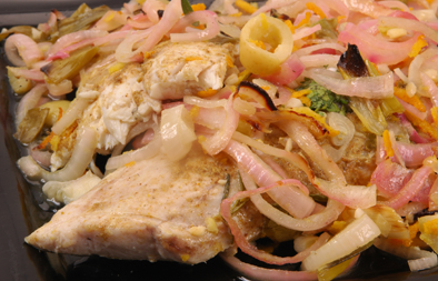 Hammour grouper with onions olives and orange zest recipe the arabic food recipes kitchen the home of delicious arabic food recipes invites you to try hammour grouper with onions olives and orange zest recipe forumfinder