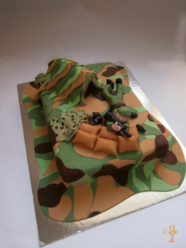 Make me a cake FONDANT CAMOUFLAGE CAKE TUTORIAL