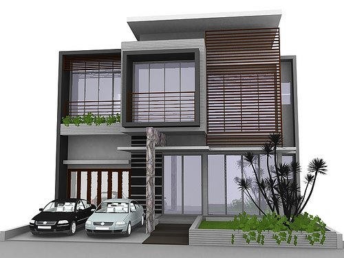 FLOWERS: Minimalist House Design  Image Model Rumah Idaman