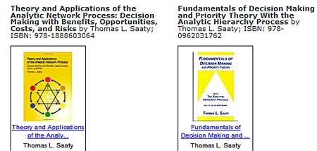 AHP books by Thomas Saaty, Ph.D.