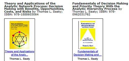 AHP books by Thomas Saaty, Ph.D.