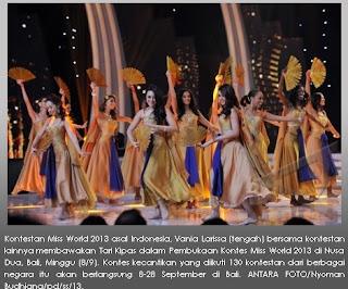 Tari Kipas Miss World 2013