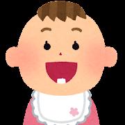 乳歯が生えた赤ちゃん のイラスト