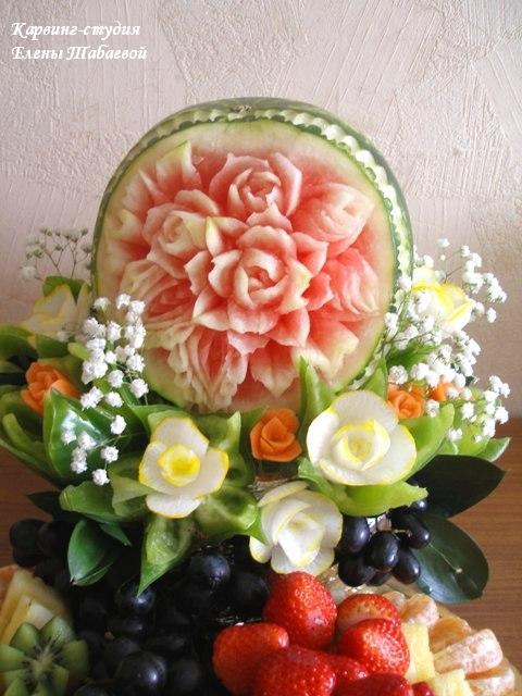фруктовый карвинг и декоративная нарезка фруктов для украшения праздников