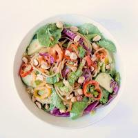 Asian Rainbow Noodle Salad from www.bobbiskozykitchen.com