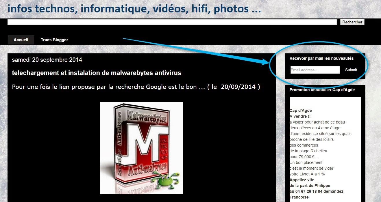 le blog infos tecnos informatique videos hifi photos inscription mail