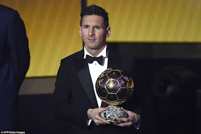 Lionel Messi Makes History As He Wins The 2015 FIFA Ballon d'Or + Photos From The Event