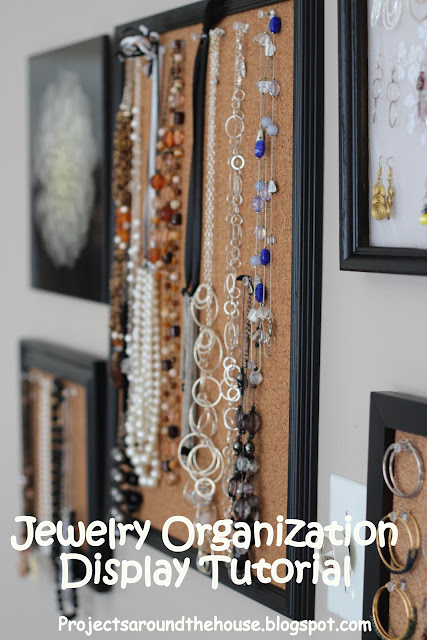 jewelry organization displaay tutorial