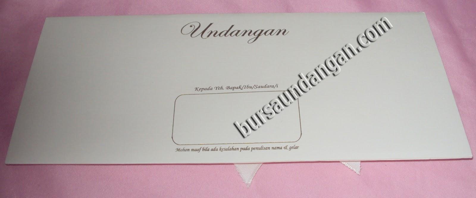 desain blanko kartu undangan pernikahan model amplop elegant dengan