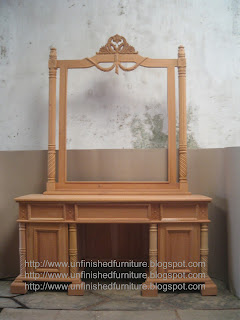 tolet dressing table mahoni ukir jepara supplier mebel jepara ukir klasik mebel mahoni mentah unfinished furniture