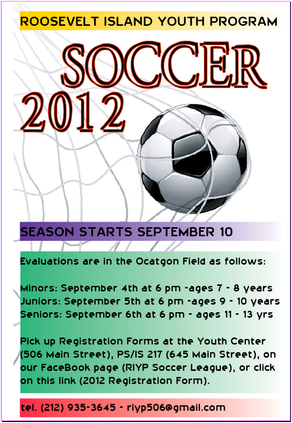 More information on the RIYP Soccer program in the flyer below