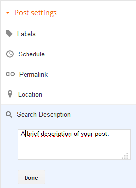Adding a Meta Description to Blogger