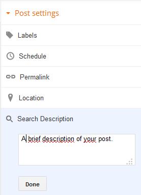 Adding a Meta Description to Blogger