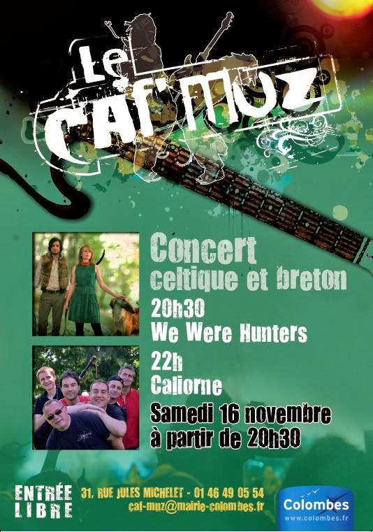 Affiche Concert concert celtique & fest-noz à Colombes