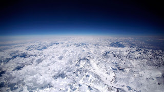 Over The Clouds And Mountains Blue Sky Landscape Space HD Wallpaper
