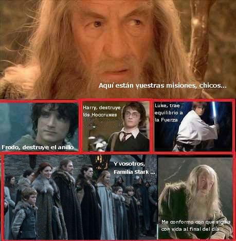 Misiones de Gandalf a la familia Stark - Juego de Tronos en los siete reinos