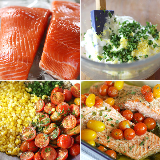 Slow-Roasted Salmon With Cherry Tomatoes And Couscous Recipes ...