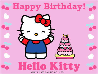 The foxy lady thinks out loud happy 38th birthday hello kitty - Hello kitty birthday images ...