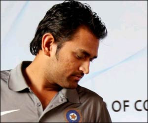 MS Dhoni in brown