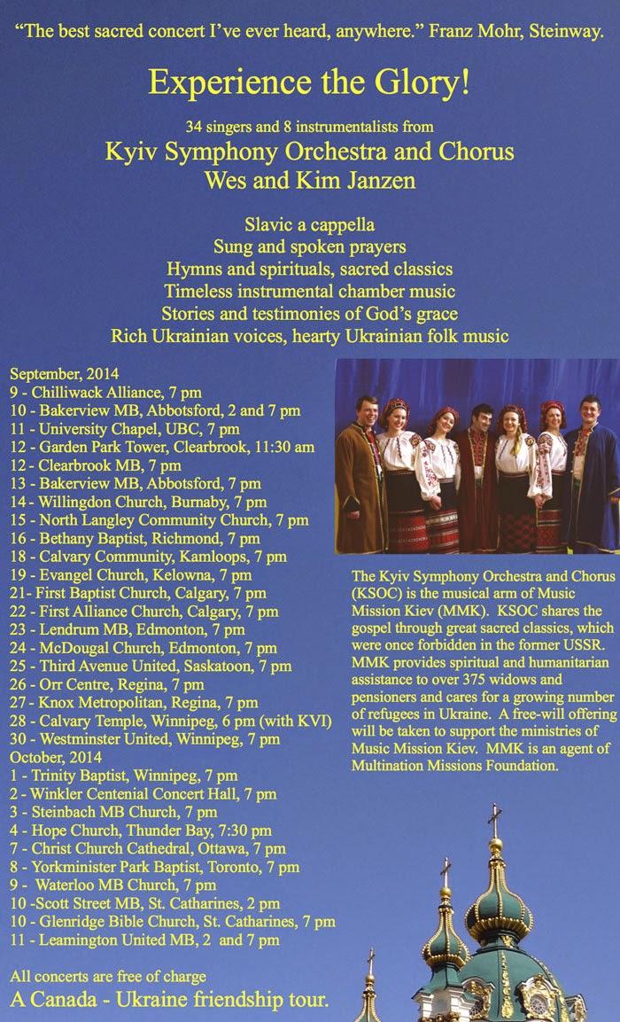 Kiev Symphony Orchestra Canada Tour