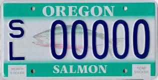 Support Oregon Salmon With License Plates