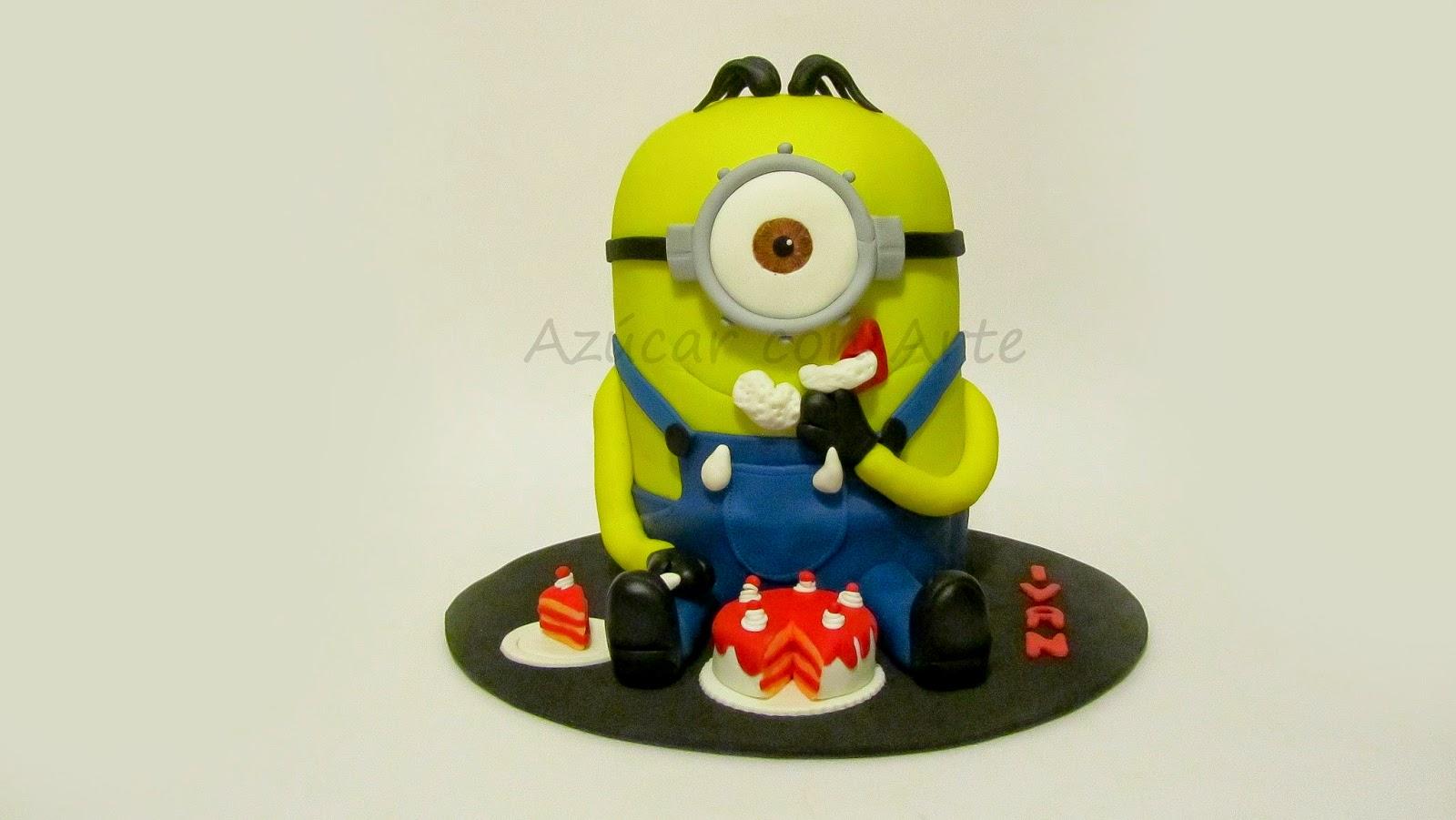 minion cake, tarta minio, tarta sin gluten, gluten free cake|azucar con arte