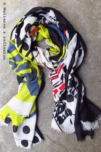 Foulard coloré hiver 2014