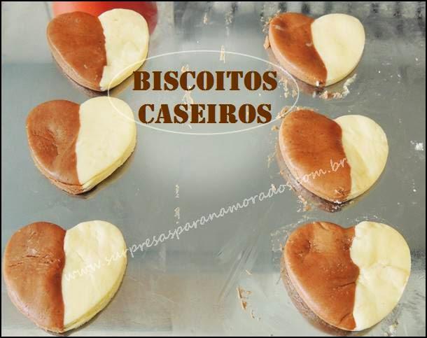 biscoitos bicolores